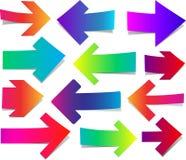 Комплект прямых красочных стрелок Стоковое Изображение RF