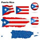 комплект Пуерто Рико иллюстрация вектора