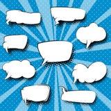Комплект пузырей речи, предпосылка искусства шипучки Стоковое Изображение