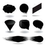 Комплект пузыря речи способа черный Стоковые Фотографии RF