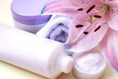комплект пурпура ванны Стоковая Фотография RF