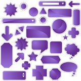 комплект пурпура ярлыка Стоковые Изображения RF