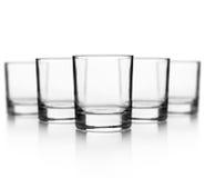 Комплект пустого стекла для вискиа Стоковая Фотография RF