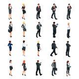 Комплект равновеликих бизнесменов на белой предпосылке Стоковые Изображения
