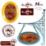 Комплект различного меню адвокатского сословия пива Стоковая Фотография RF