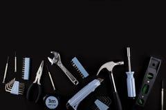 Комплект различных инструментов на белой предпосылке Стоковая Фотография