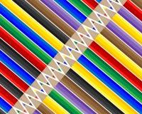 Комплект различных карандашей Стоковая Фотография