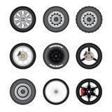 Комплект различных колес перехода Стоковые Фото