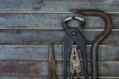 Комплект различных оборудования, аппаратур и инструментов для ручной работы Стоковая Фотография