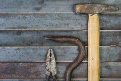 Комплект различных оборудования, аппаратур и инструментов для ручной работы Стоковое Изображение