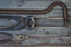 Комплект различных оборудования, аппаратур и инструментов для ручной работы Стоковая Фотография RF