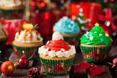 Комплект различных очень вкусных пирожных рождества стоковое изображение rf