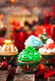 Комплект различных очень вкусных пирожных рождества стоковые изображения rf