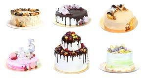 Комплект различных очень вкусных тортов помадки Стоковое Изображение RF