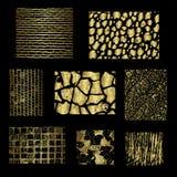 Комплект различных предпосылок золота Стоковые Изображения RF