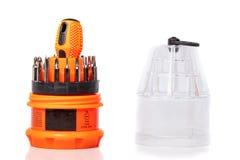 Комплект различных приложений для головной отвертки с scr стоковая фотография rf