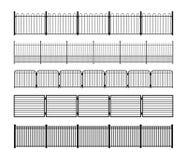 Комплект различных простых модульных силуэтов загородки металла Стоковая Фотография RF