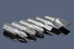 Комплект различных сопл для отвертки Стоковые Изображения RF