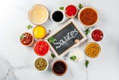 Комплект различных соусов Стоковая Фотография RF
