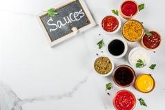 Комплект различных соусов Стоковые Фотографии RF