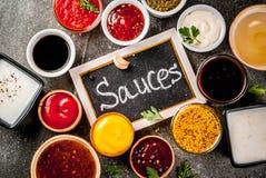 Комплект различных соусов Стоковые Фото