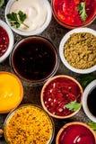 Комплект различных соусов Стоковое Фото