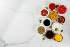 Комплект различных соусов Стоковое фото RF
