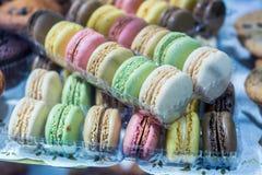 Комплект различных французских macaroons печений Стоковое фото RF