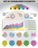 Комплект различных элементов Infographic Стоковые Изображения RF