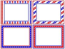 комплект рамки патриотический Стоковые Фотографии RF