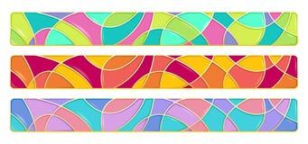 Комплект 3 реалистических элементов дизайна Стоковое Изображение RF