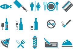 комплект ресторана иконы штанги Стоковая Фотография RF