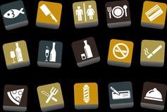 комплект ресторана иконы штанги Стоковое Фото