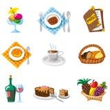 комплект ресторана иконы Стоковая Фотография