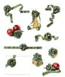 комплект рождества изолированный украшениями Стоковая Фотография