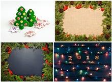 Комплект рождества и Новых Годов украшений для вашего дизайна Стоковые Изображения RF