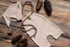 Комплект рождества одежд для фотосессии newborn Стоковые Изображения