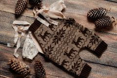 Комплект рождества одежд для фотосессии newborn Стоковое Изображение RF