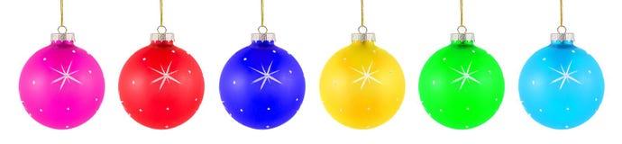 комплект рождества шариков цветастый Стоковая Фотография