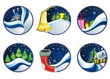 Комплект рождественских открыток Стоковые Фотографии RF