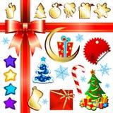 комплект рождества Стоковое Изображение RF