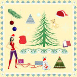Комплект рождества Стоковая Фотография RF