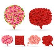 Комплект розовых пузырей для речи. Стоковые Изображения RF