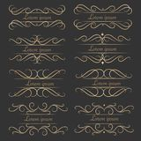 Комплект роскошных декоративных каллиграфических элементов для украшения Стоковое Фото