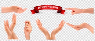 Комплект рук на прозрачной предпосылке Стоковые Фото