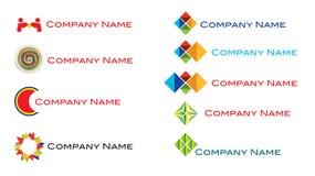 комплект свежего логоса самомоднейший Стоковая Фотография