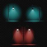 Комплект света лампы штендера иллюстрация вектора