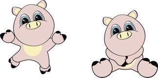 комплект свиньи шаржа Стоковые Фото