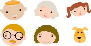 комплект семьи Стоковые Изображения