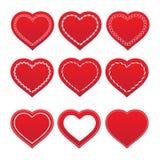 Комплект сердец Стоковые Фото